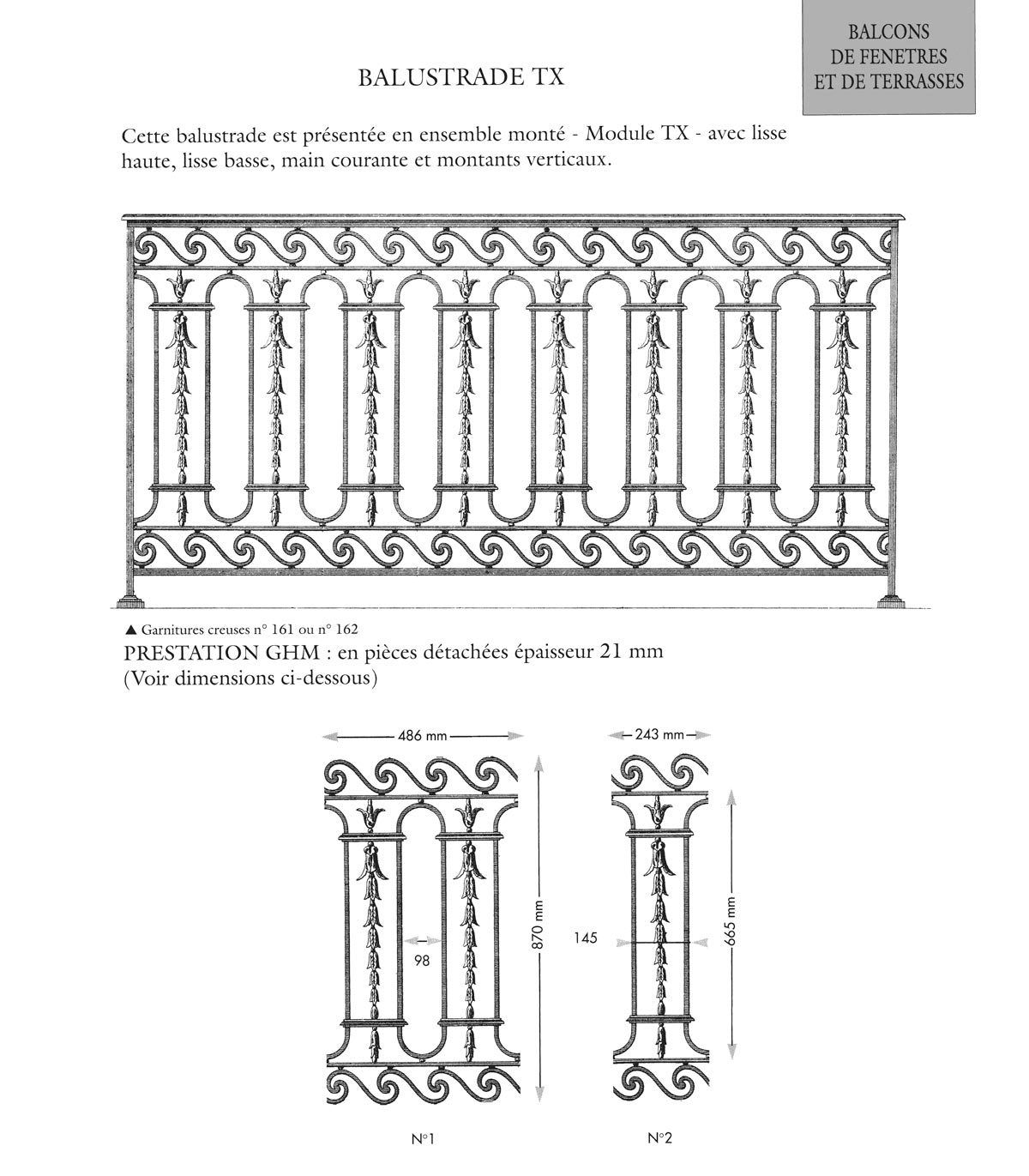 tx balustrade